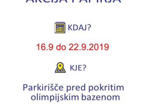 Zbiralna akcija papirja (16. – 22. 9.)